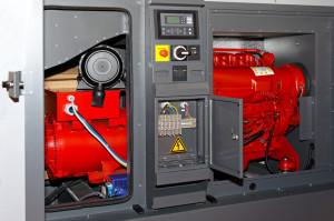 Diesel home power generator for emergency electrical backup