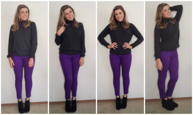 make sure to keep balance between neutral sweaters by adding a bright bottom - How to Wear a Turtleneck