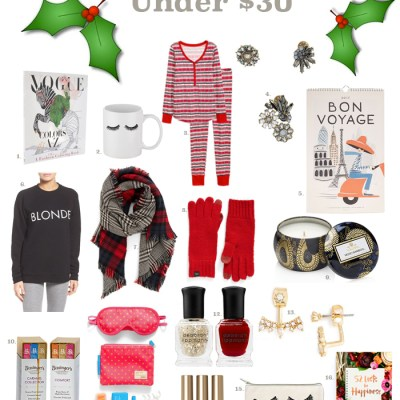 Gifts and Stocking Stuffers Under $30 + GIVEAWAY