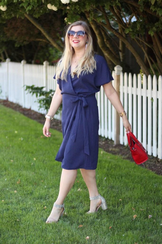 wrap dress - office style - wardrobe malfunction