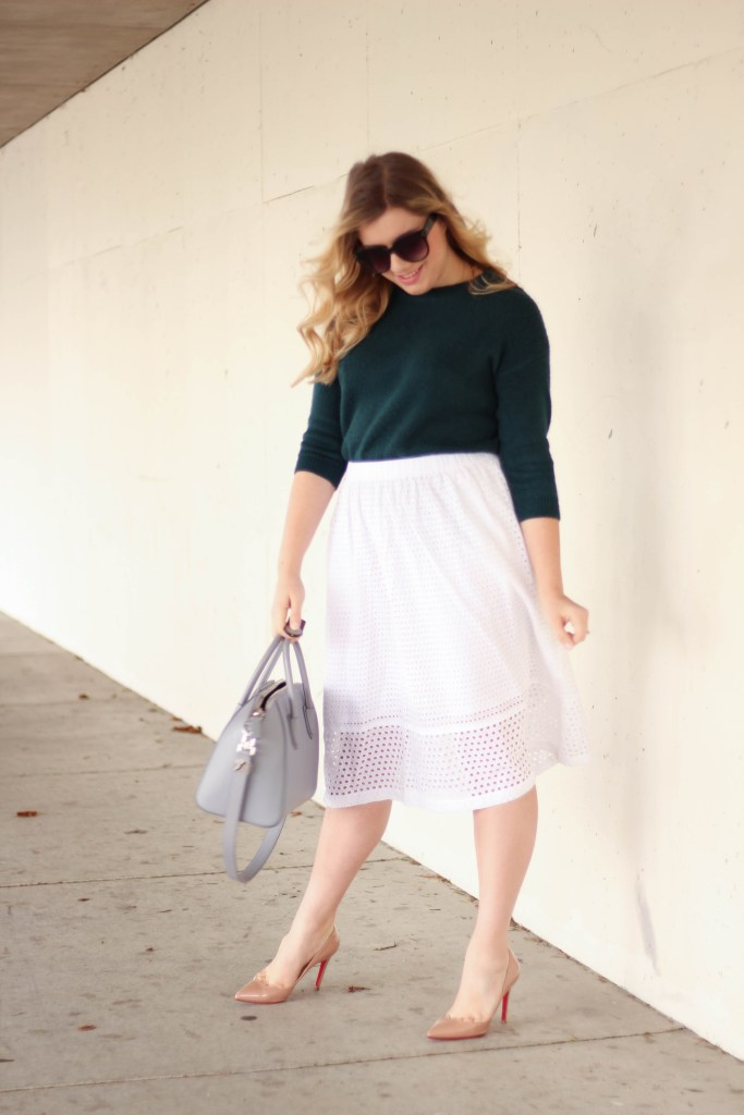 how to wear eyelet skirt 4 ways - j.crew eyelet skirt