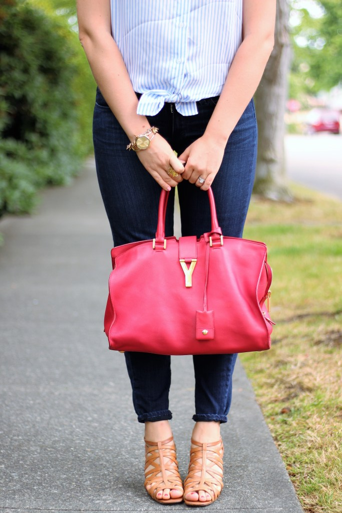 YSL Y bag - 4th of July office outfit