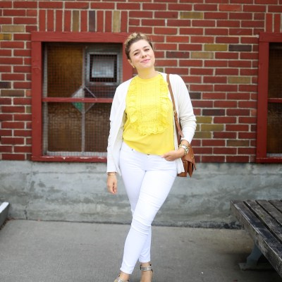 Feeling Comfortable (and Confident) in White Jeans