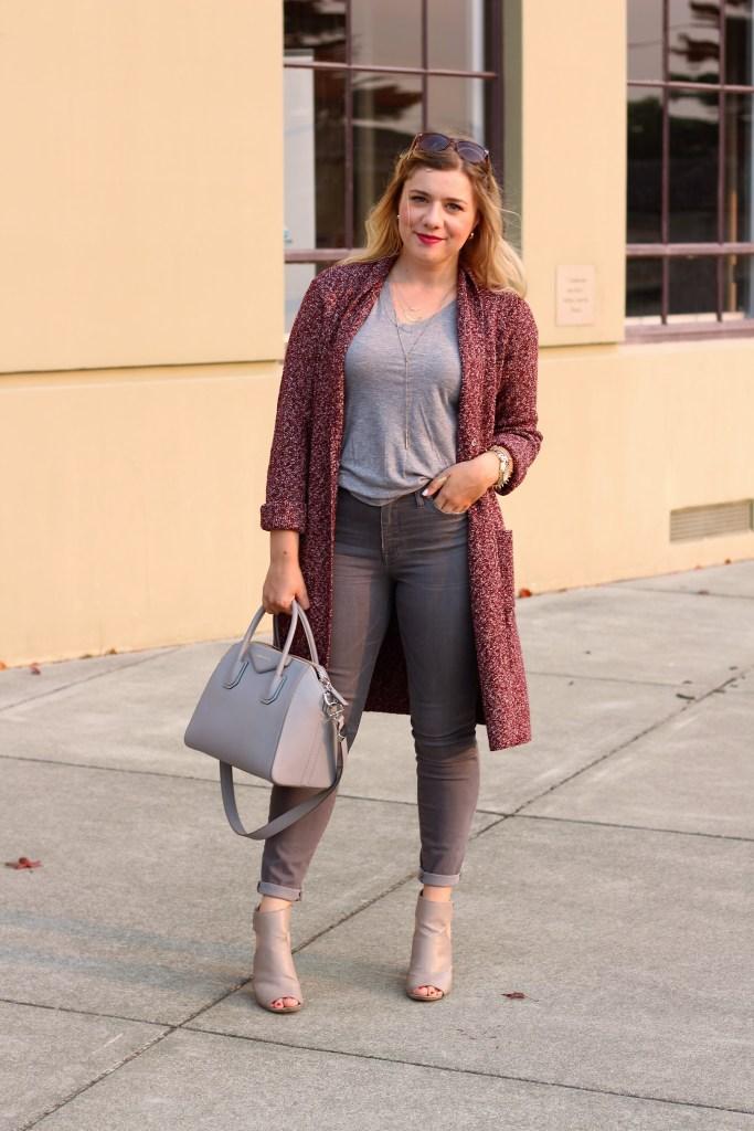 j.jill knit topper - knits season - givenchy antigona - vince addie heels - summer to fall style