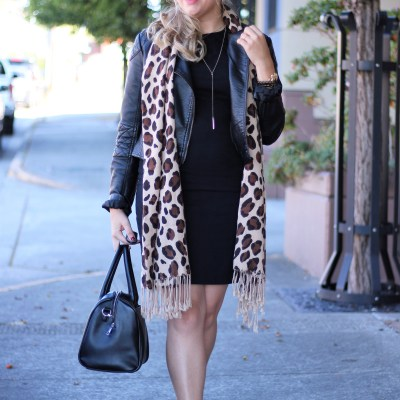 madewell ankle boots - early fall weekend outfit ideas - leopard print scarf fall