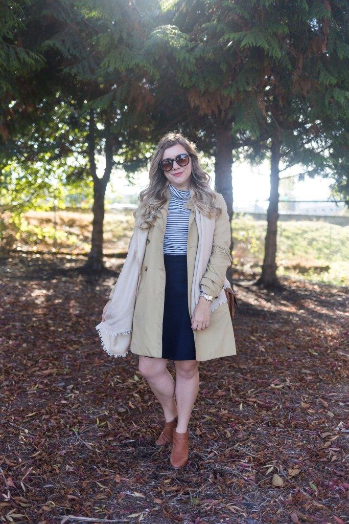 embracing fall - J.Crew skirt - sole society scarf - madewell ankle boots - tissue turtleneck - J.Crew fall essentials