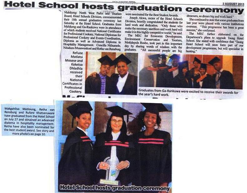 18th Annual Graduation Ceremony – Saturday, 27 July 2013 at Mahikeng