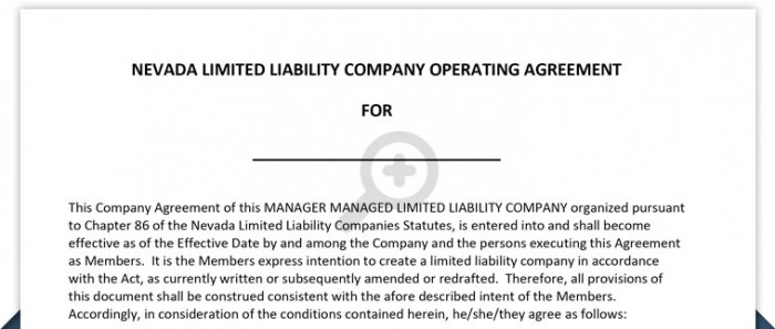 What taxes does an llc pay? Nevada Llc Operating Agreement Free Template