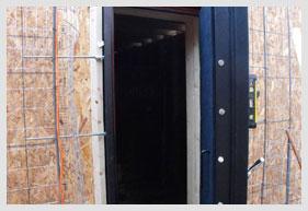 Bomb Shelter Blast Door Being Built