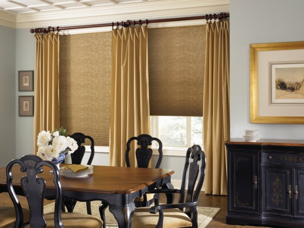 Large Dining Room Window Curtain Ideas