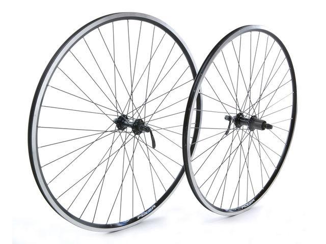 Tru-Build 700C Rear Wheel, Mach1 CFX Black Rim, 8/9/10/11