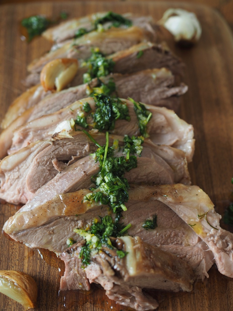Paske lamb with orange & dill sauce
