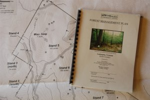 Management plan and map prepared for a landowner, ready for Current Use and NRCS cost-share enrollment