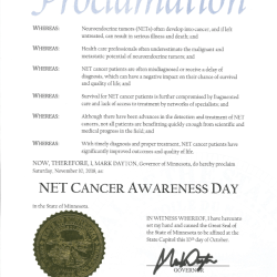 NET Cancer Day in Minnesota 2018