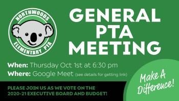 October 1st General PTA Meeting