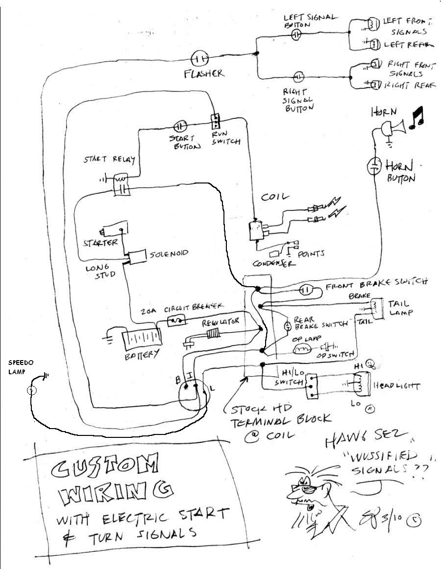Simplied Shovelhead wiring diagram needed!