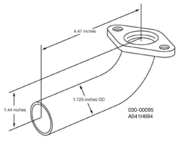 Cummins Onan Elbow Exhaust HGJBB A041H694: Emergency