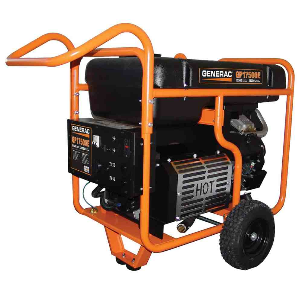 medium resolution of generac portable gp series 17500e at norwall com generac electric start gp series 17500e portable generator model 5734 at norwall com norwall