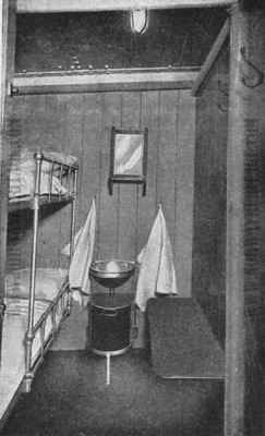 Saxonia (1) - Ivernia, 2 berth steerage sleeping room, this image was printed in an old promotional booklet