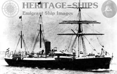 Hamburg America Line steamship Rhaetia (1)