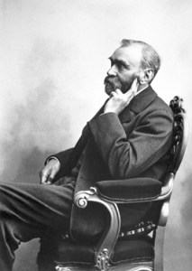 Alfred Nobel. Picture sometime around 1890. Photo © The Nobel Foundation.