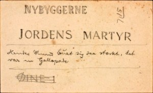 From Hamsun's work on The Growth of the Soil. Fragment with two alternative titles. Courtesy of the National Library of Norway.