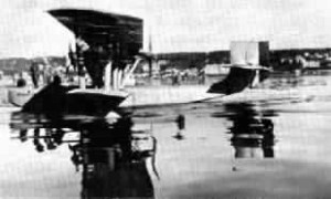 The Latham flying boat in which Amundsen lost his life.