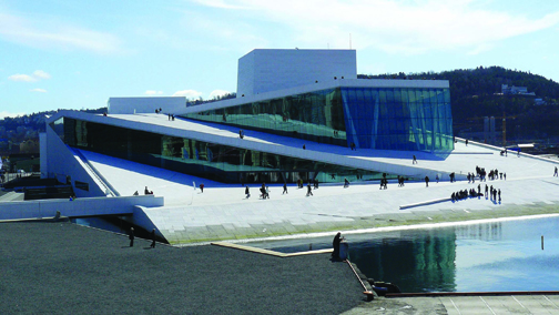 """The land surrounding Bjørvika is becoming the """"city within the city"""" with the new Oslo Opera House at its center."""