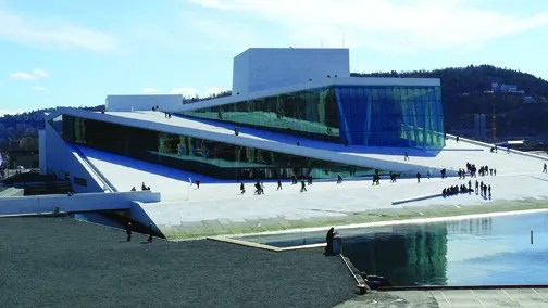 "The land surrounding Bjørvika is becoming the ""city within the city"" with the new Oslo Opera House at its center."