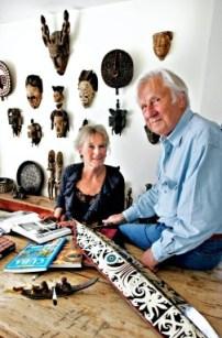 Artist Skule Waksvik and his wife Cathrine Stang. Photo: JORONN SAGEN ENGEN