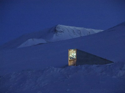 Svalbard Global Seed Vault: The Entry. Photo: Mari Tefre/Svalbard Global Seed Vault