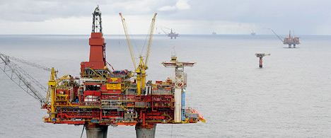 The Statfjord C platform in the North Sea (Photo: Harald Pettersen)