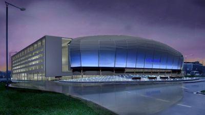 The brand new and ultra-modern Telenor Arena.