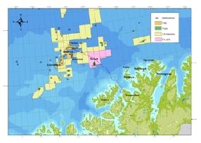 Goliat Location Map. Photo: Eni Norge.