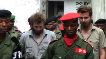 Joshua French (left) and Tjostolv Moland have been jailed in Congo since May. Photo: twitpic.comPhoto: twitpic.com