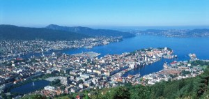 Bergen - hometown of the two recipients of the 2008 Gender Equality Award.