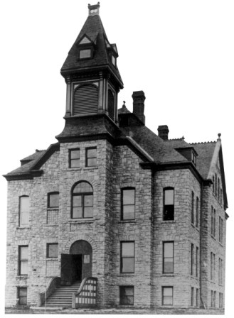 The Lutheran Normal School (1889-1918). Founded in Sioux Falls by the Norwegian Synod in order to provide teachers for Lutheran parochial schools, Augustana's partner-to-be had this stark look in 1895. Old main was constructed in 1889 on four acres donated by Senator R.F. Pettigrew. Old Main still stands today on Augustana's campus. Photo: Augustana College.