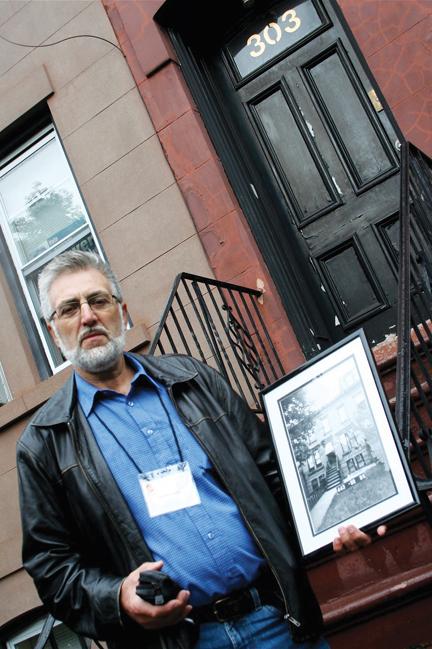 Emotions ran high when Dagfinn Silgjerd found his grandfather's old home in Brooklyn, N.Y. Photo by Berit Hessen