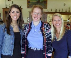 Haley, Hannah, and Heidi. Photo courtesy of Leif Erikson Lodge.