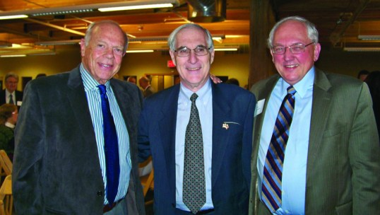 Photo: Leslee Lane Hoyum Ambassador White is flanked by Wheelock Whitney, father of former Ambassador Ben Whitney (L), and Minnesota Supreme Court Justice Paul H. Anderson (R).