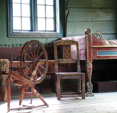 Furnishings at the Maihuagen museum in Lillehammer