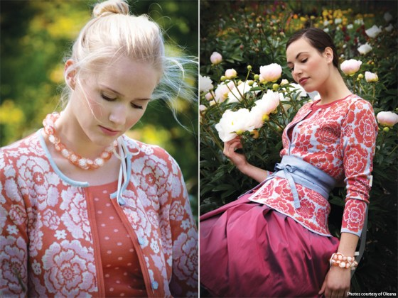 Two designs from Oleana's spring 2011 collection.