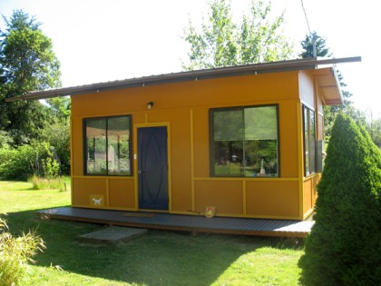 Studio designed by Øverdahl Cain Building Design in Vashon Island, Wash.