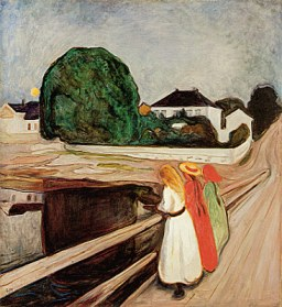 """Pikene på broen"" by Edvard Munch"