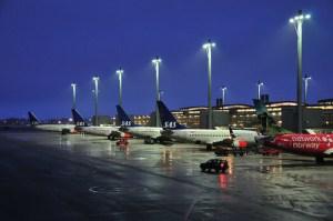 Morning light at Gardermoen airport outside of Oslo. Photo: sunny246