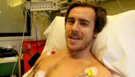 Torp greeted the Bergen Brann from his hospital bed.