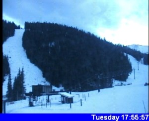 Webcam picture from the slopes at Levi.