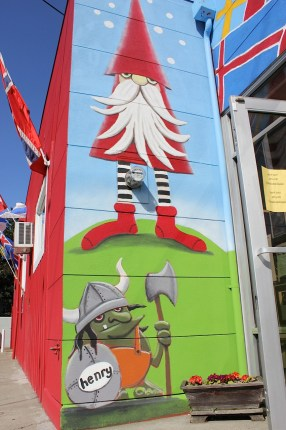 The friendly Nisse and Troll welcome you to Scandinavian Specialties.