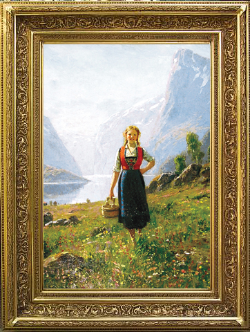 """""""Fjord Country"""" by Hans Dahl (1849 – 1937)"""