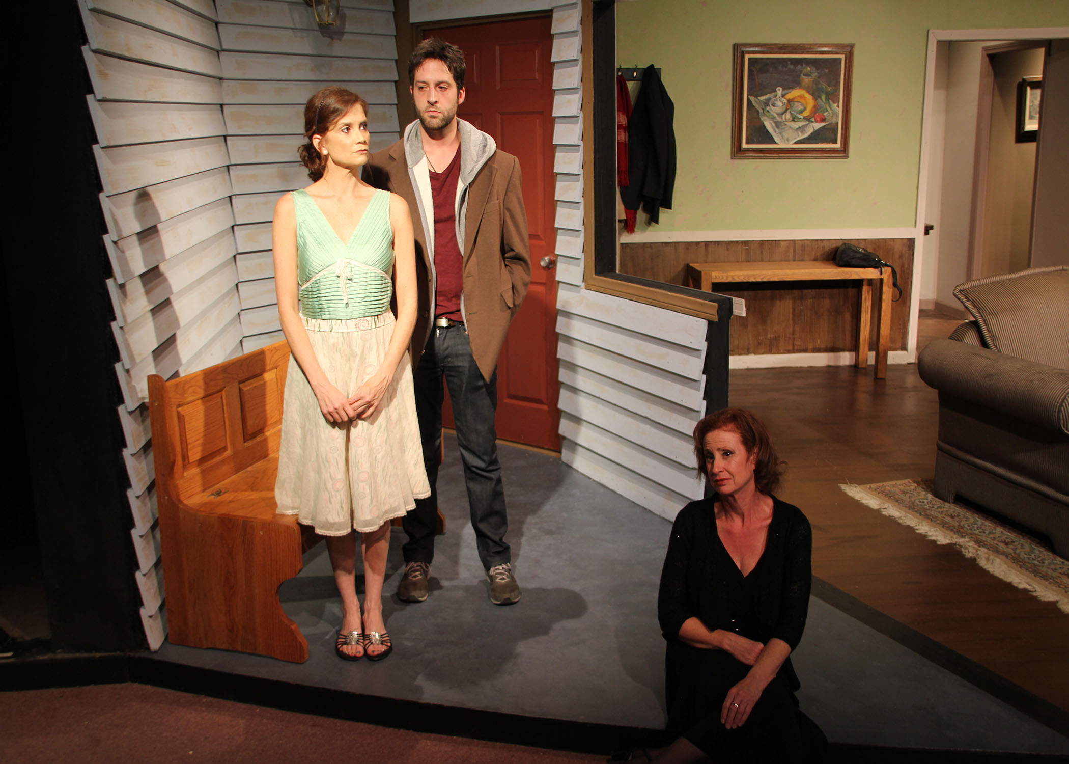 "Photo: Photo: Sherry Netherland A scene from ""Mom's Gift,"" award-winning play by Phil Olson."